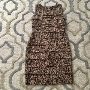 New Directions Leopard sleeveless dress Size 8